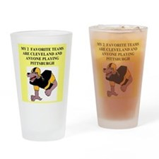 browns t-shirts and gifts Pint Glass
