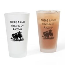 i love horse racing Pint Glass