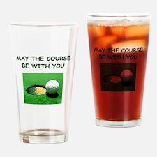 i love golf Pint Glass