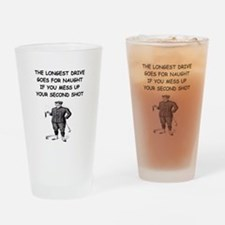 golf humor gifts and t-shirts Pint Glass