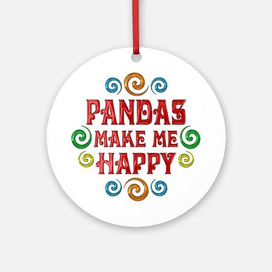 Panda Happiness Ornament (Round)