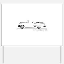 1953 Chevrolet Convertible Bel Air Yard Sign