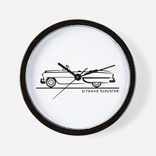 1953 Chevrolet Convertible Bel Air Wall Clock