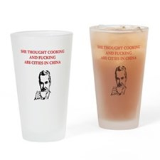 divorce joke for men Pint Glass