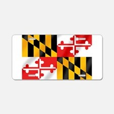 Flag of Maryland Aluminum License Plate