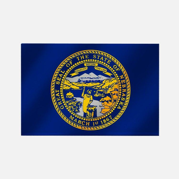 Flag of Nebraska Rectangle Magnet