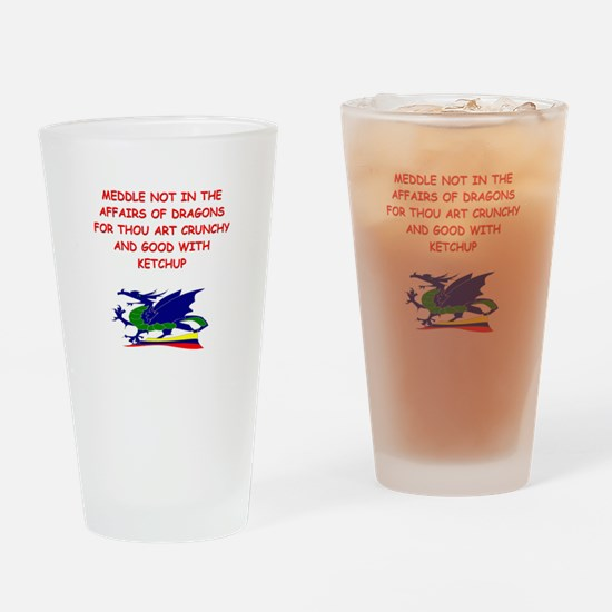 dragon humor on gifts and t-s Pint Glass