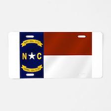 North Carolina State Flag Aluminum License Plate