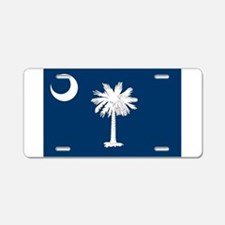 South Carolina Flag Aluminum License Plate
