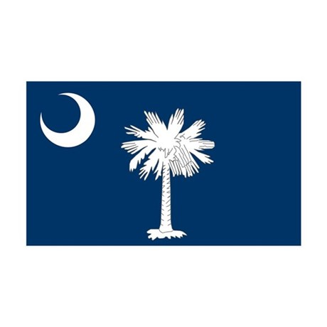 South Carolina Flag 35x21 Wall Decal