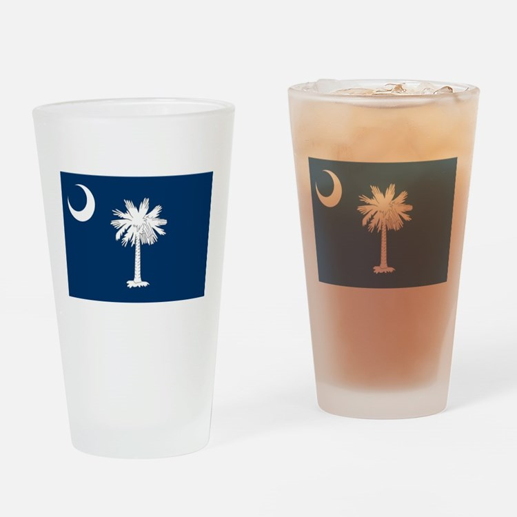 South Carolina Flag Drinking Glass