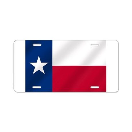 Texas State Flag Aluminum License Plate