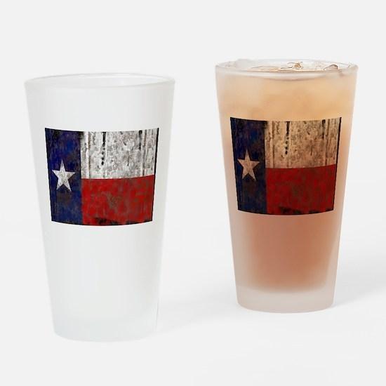Texas Retro State Flag Pint Glass