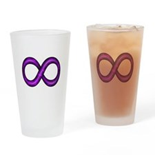Purple Infinity Symbol Drinking Glass