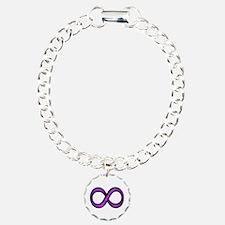 Purple Infinity Symbol Charm Bracelet, One Charm