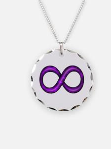 Purple Infinity Symbol Necklace