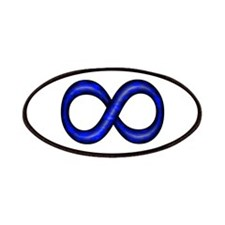 Blue Infinity Symbol Patches