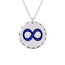 Blue Infinity Symbol Necklace