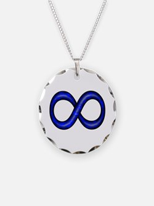 Blue Infinity Symbol Necklace