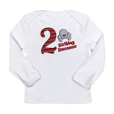 2nd Birthday Buccaneer Long Sleeve Infant T-Shirt