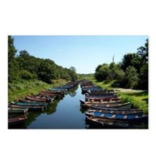 Boats in Killarney Postcards (Package of 8)
