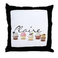 Cupcake Claire Throw Pillow