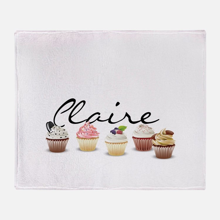 Cupcake Claire Throw Blanket