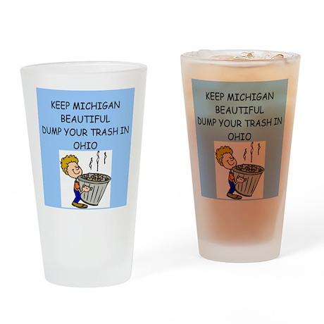keep michigan beautiful Pint Glass