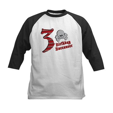 3rd Birthday Buccaneer Kids Baseball Jersey