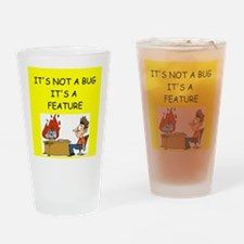 tech support geek joke Pint Glass