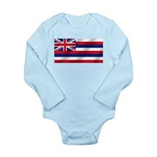 Hawaii State Flag Long Sleeve Infant Bodysuit