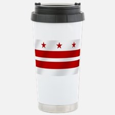 Washington DC Flag Stainless Steel Travel Mug