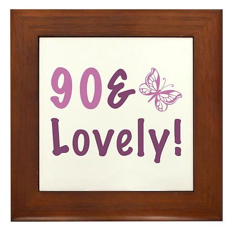 90 & Lovely Framed Tile