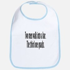Two Men Walk Into A Bar Parody Bib