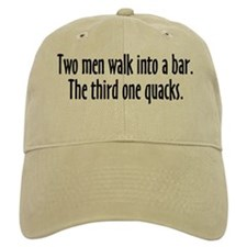 Two Men Walk Into A Bar Parody Baseball Cap