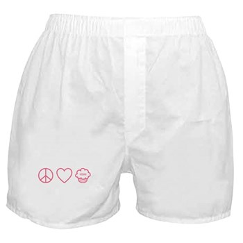 Peace, Love & Vegan Cupcakes Boxer Shorts