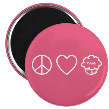 Peace, Love & Vegan Cupcakes Magnet