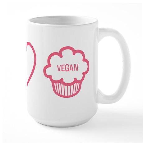 Peace, Love & Vegan Cupcakes Large Mug