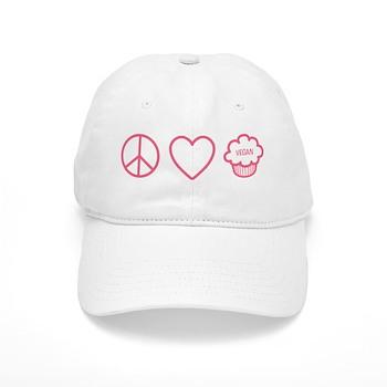 Peace, Love & Vegan Cupcakes Cap