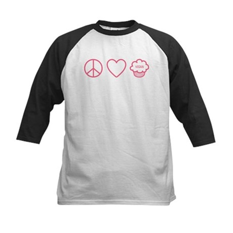 Peace, Love & Vegan Cupcakes Kids Baseball Jersey