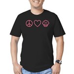 Peace, Love & Vegan Cupcakes Men's Fitted T-Shirt