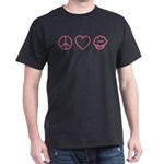 Peace, Love & Vegan Cupcakes Dark T-Shirt