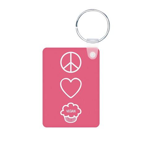 Peace, Love & Vegan Cupcakes Aluminum Photo Ke