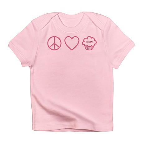 Peace, Love & Vegan Cupcakes Infant T-Shirt