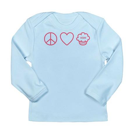 Peace, Love & Vegan Cupcakes Long Sleeve Infant T-
