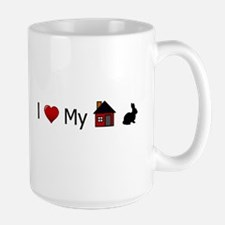 I Love My House Rabbit Mug