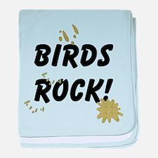 Birds Rock baby blanket