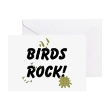Birds Rock Greeting Card