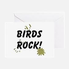 Birds Rock Greeting Card