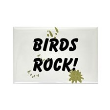 Birds Rock Rectangle Magnet